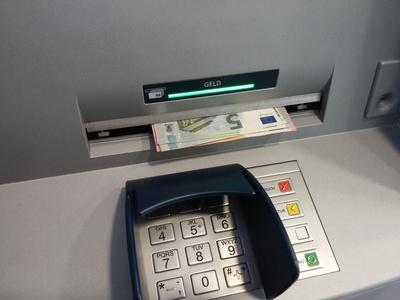 Bankautomat Bargeld