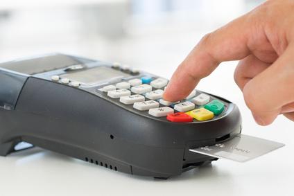 Kreditkartenzahlung am Terminal
