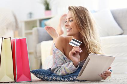 Online-Shopping mit Kreditkarte